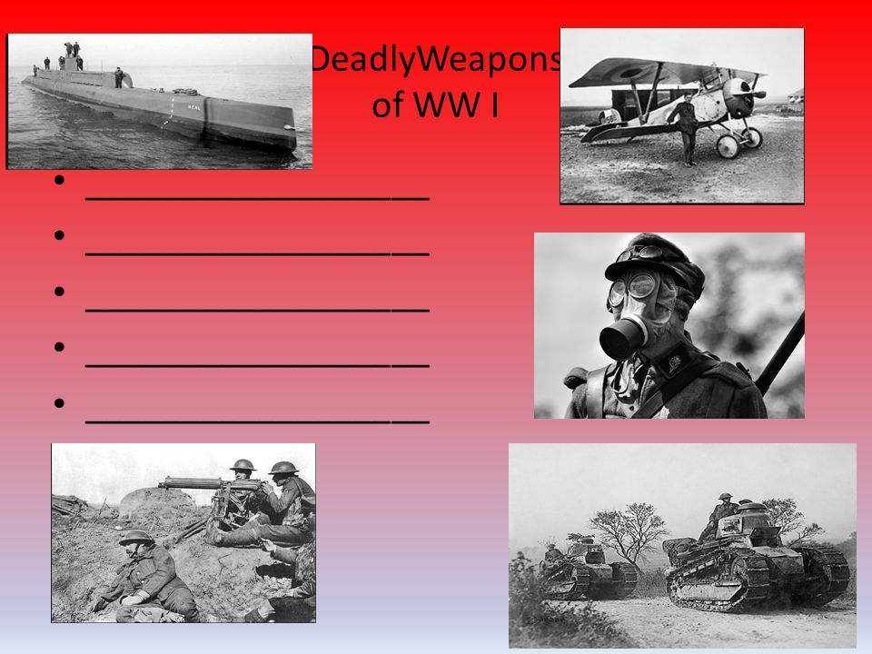 DeadlyWeapons of WW I __________________