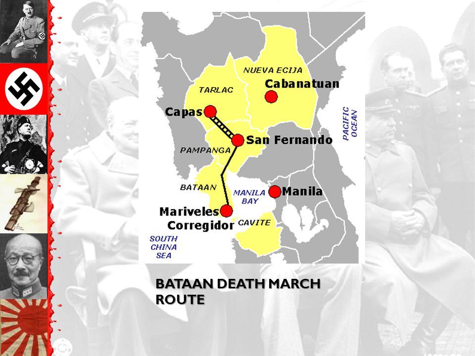 BATAAN DEATH MARCH ROUTE