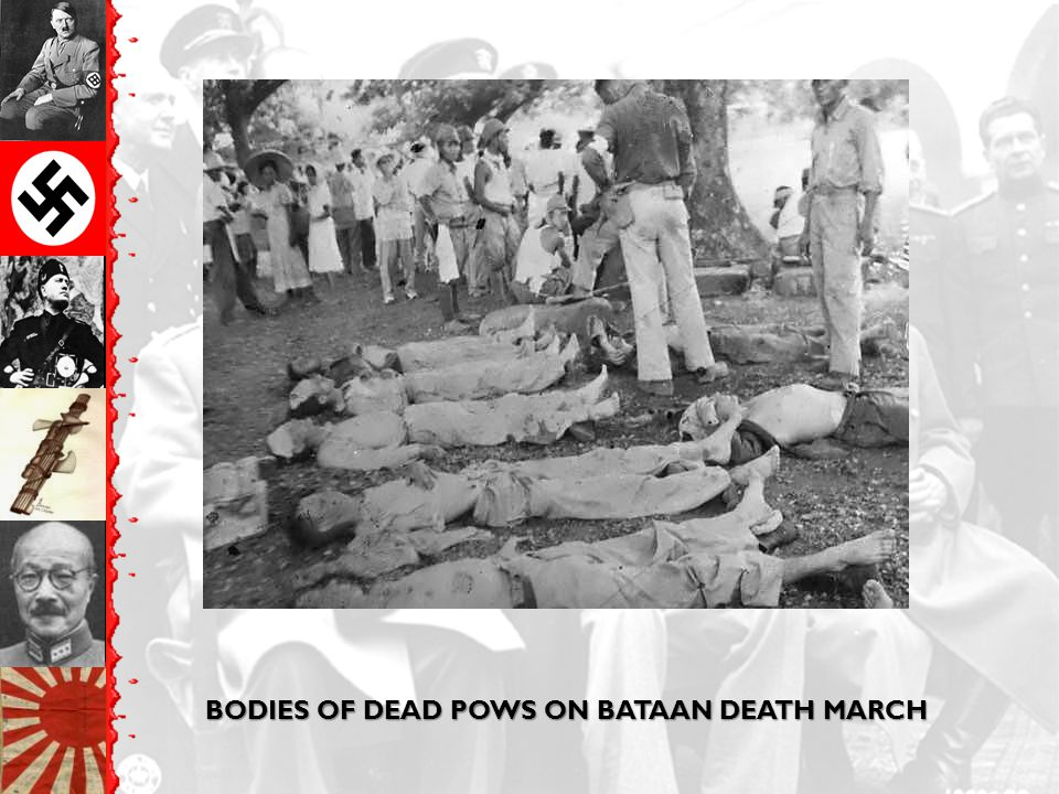BODIES OF DEAD POWS ON BATAAN DEATH MARCH