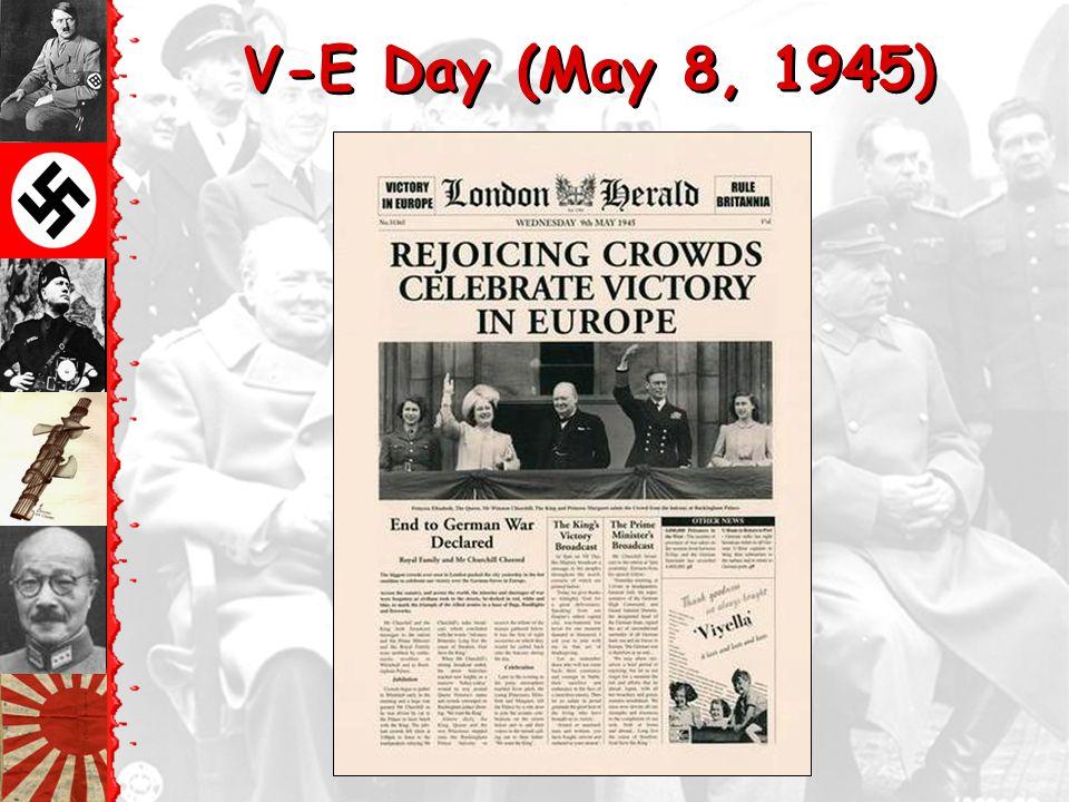 V-E Day (May 8, 1945) General Keitel