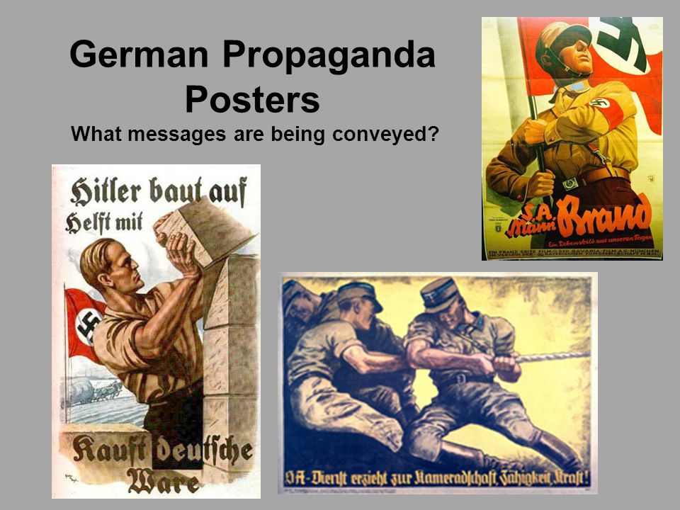 German Propaganda Posters What messages are being conveyed?