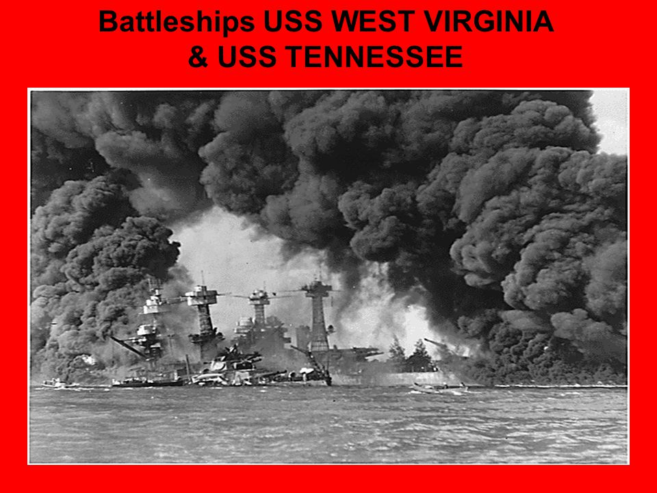 Battleships USS WEST VIRGINIA & USS TENNESSEE