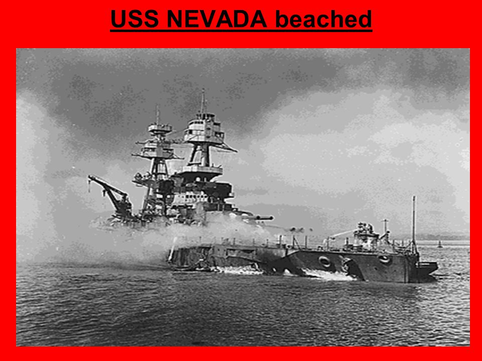 USS NEVADA beached