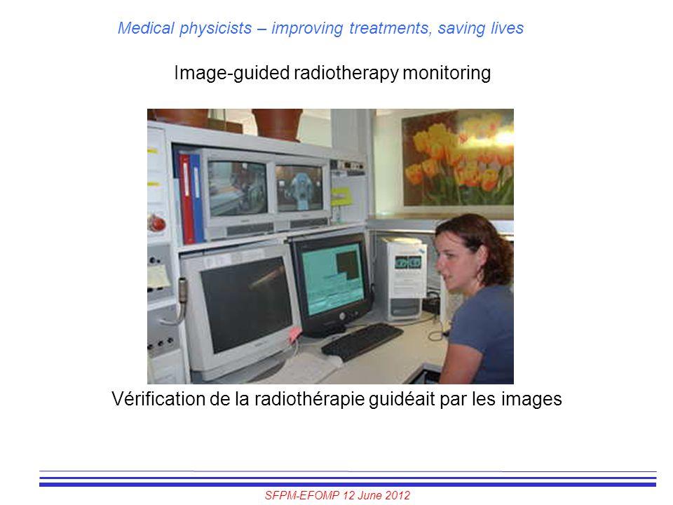 SFPM-EFOMP 12 June 2012 Medical physicists – improving treatments, saving lives Image-guided radiotherapy monitoring Vérification de la radiothérapie