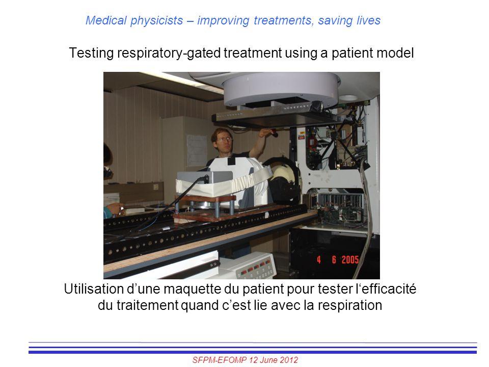 SFPM-EFOMP 12 June 2012 Medical physicists – improving treatments, saving lives Testing respiratory-gated treatment using a patient model Utilisation
