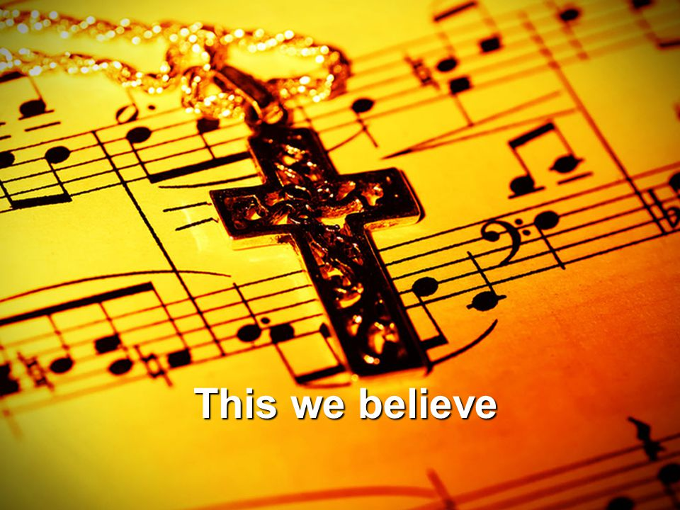Jesus is our cornerstone And if we believe in him He will never let us down.
