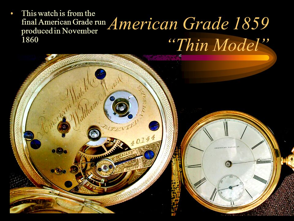 The American Bridges In the late 1890's Waltham hired a couple of Swiss designers to modernize their watch designs.