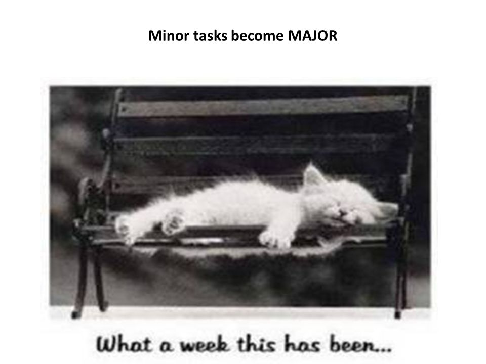 Minor tasks become MAJOR