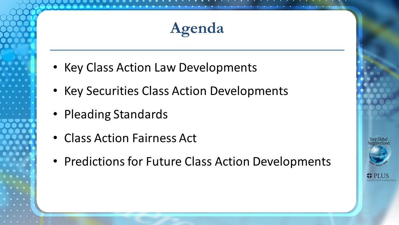 Defendant's Perspective Predictions for Future Class Action Developments