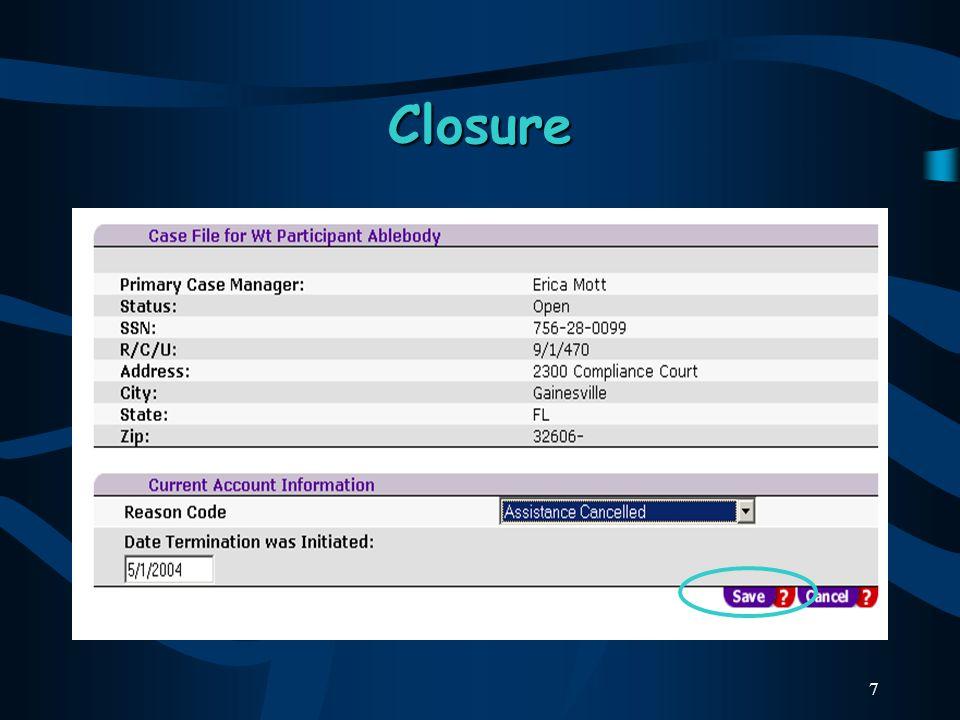 7 Closure