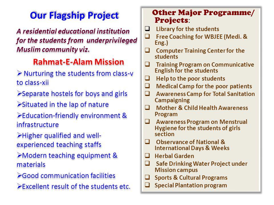 Rahmat-E-Alam Mission Under the umbrella of: Rahmat-E-Alam Educational & Welfare Trust Under the umbrella of: Rahmat-E-Alam Educational & Welfare Trust
