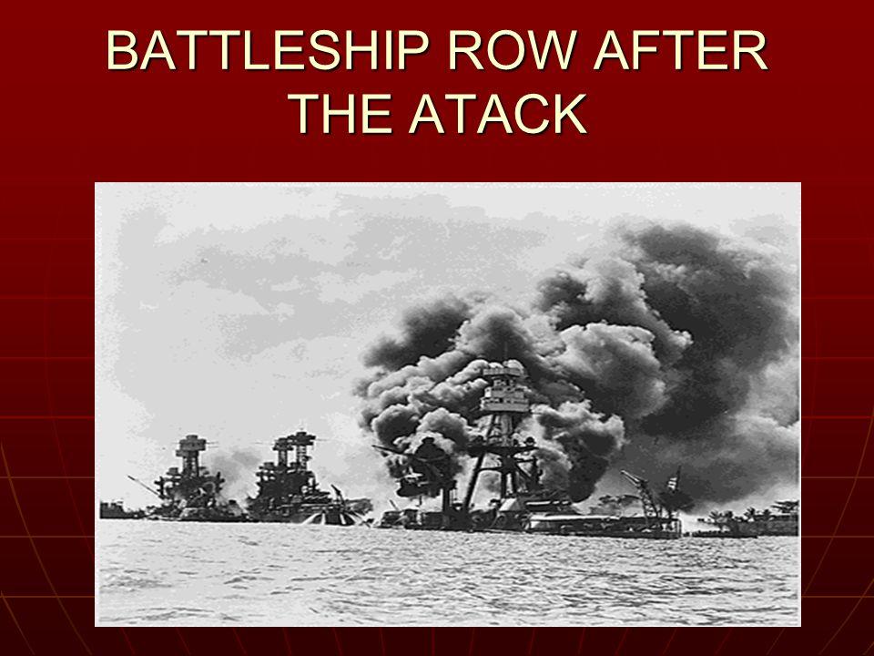 BATTLESHIP ROW AFTER THE ATACK