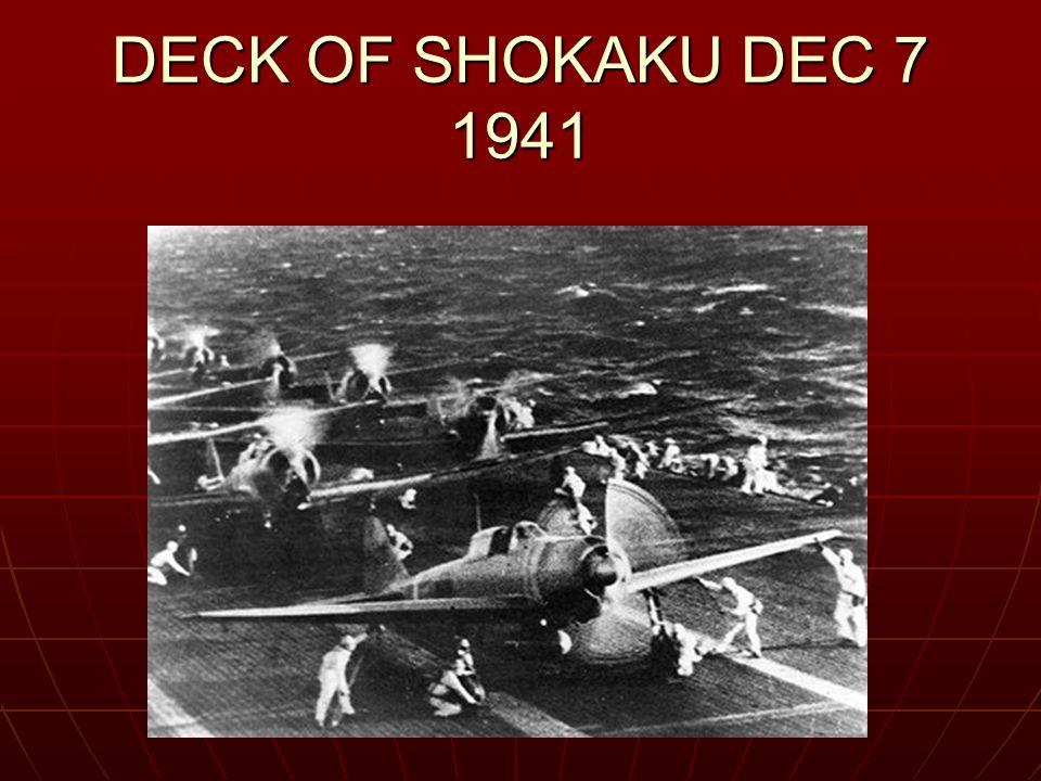 DECK OF SHOKAKU DEC 7 1941
