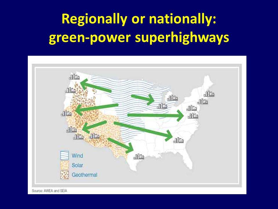 Regionally or nationally: green-power superhighways