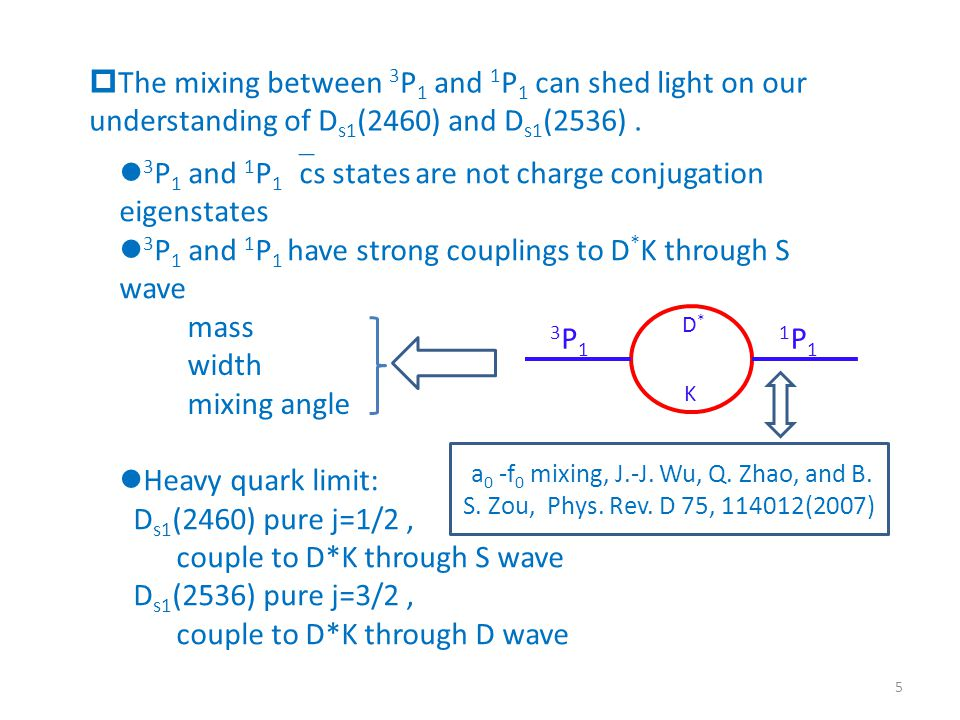  The mixing between 3 P 1 and 1 P 1 can shed light on our understanding of D s1 (2460) and D s1 (2536).
