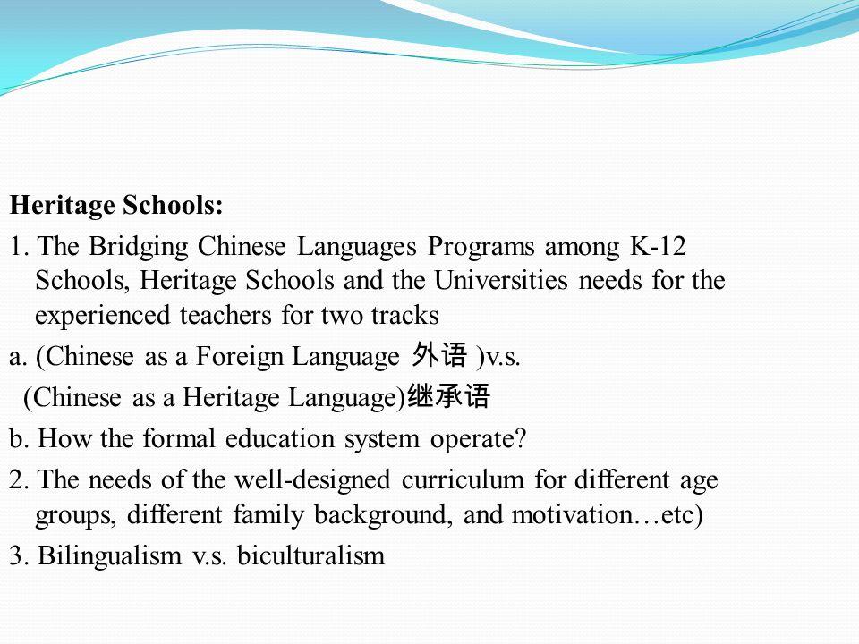 Heritage Schools: 1.