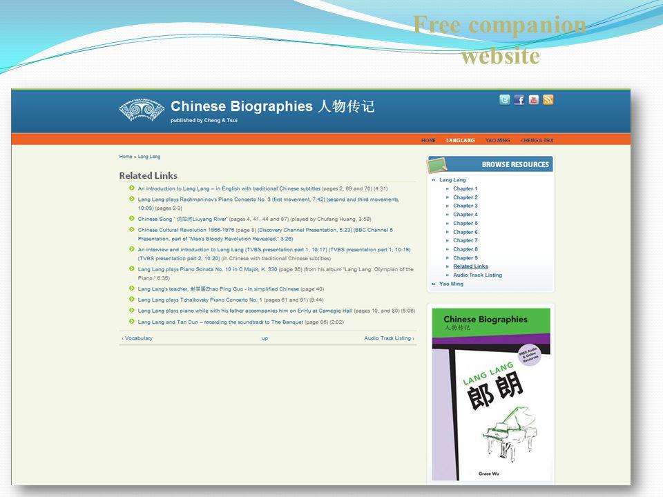 Free companion website
