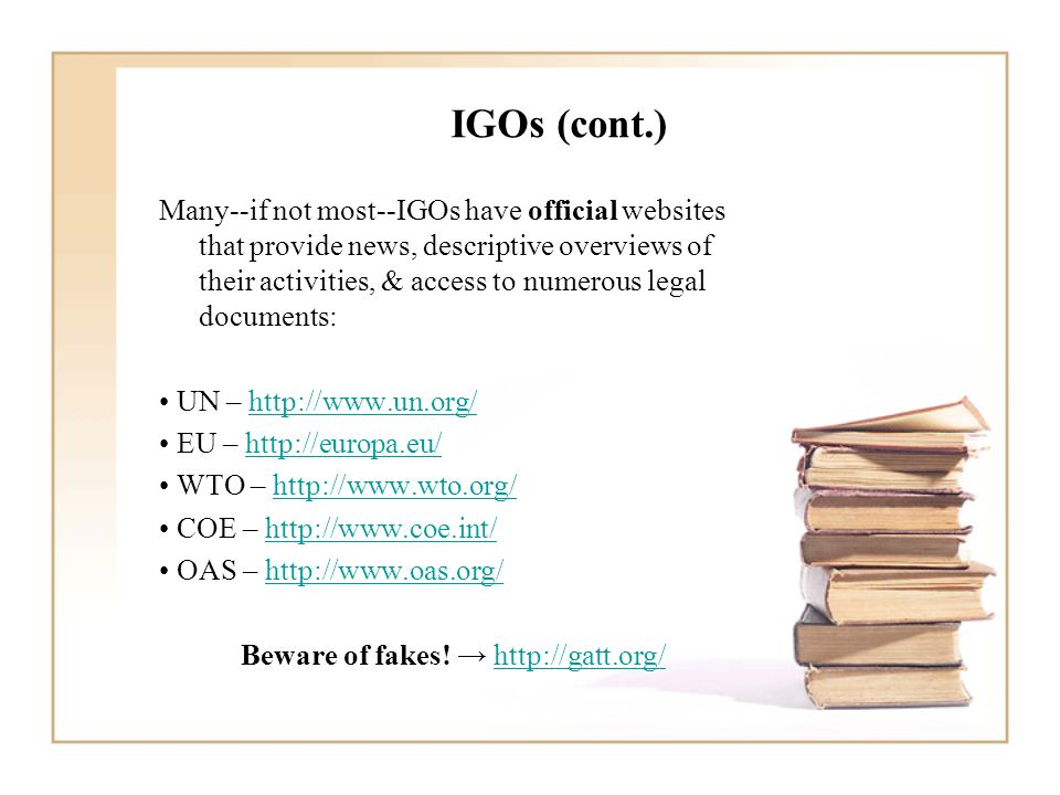 Non-Governmental Organizations (NGOs) Q: What is an NGO.