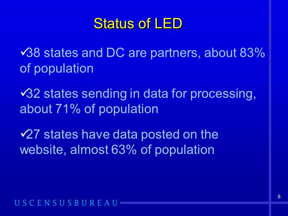 9 LED Partner States Effective 3/11/05