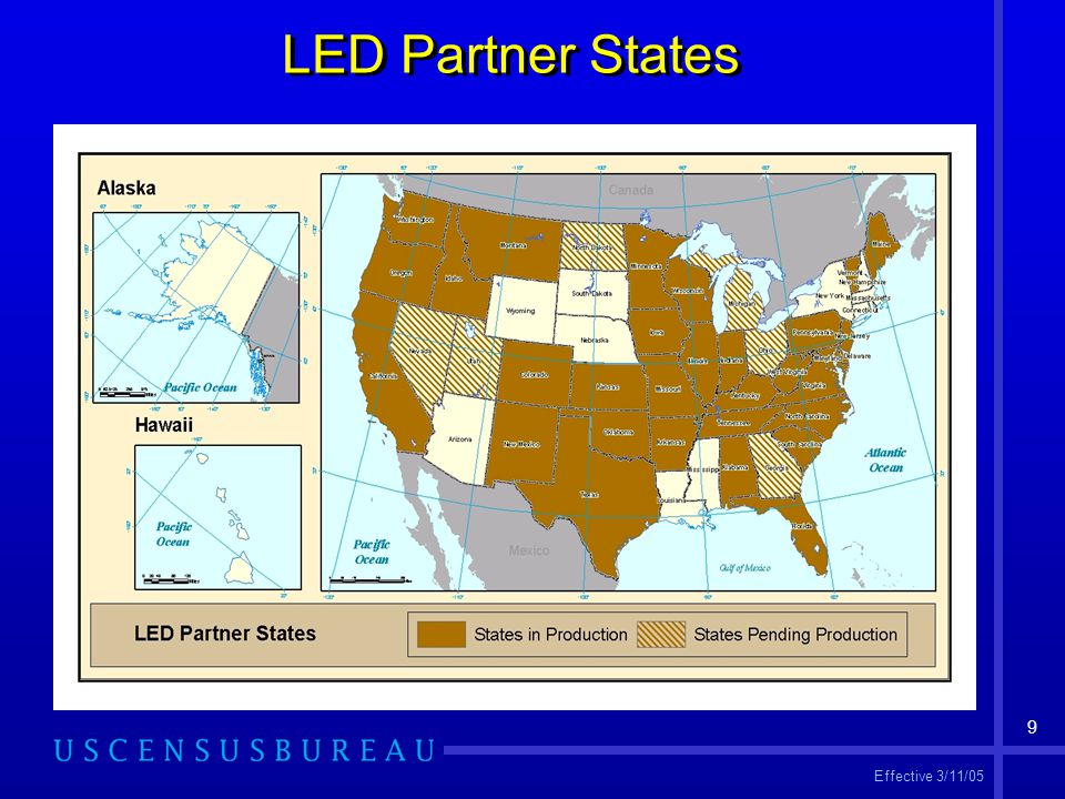9 LED Partner States Effective 3/11/05