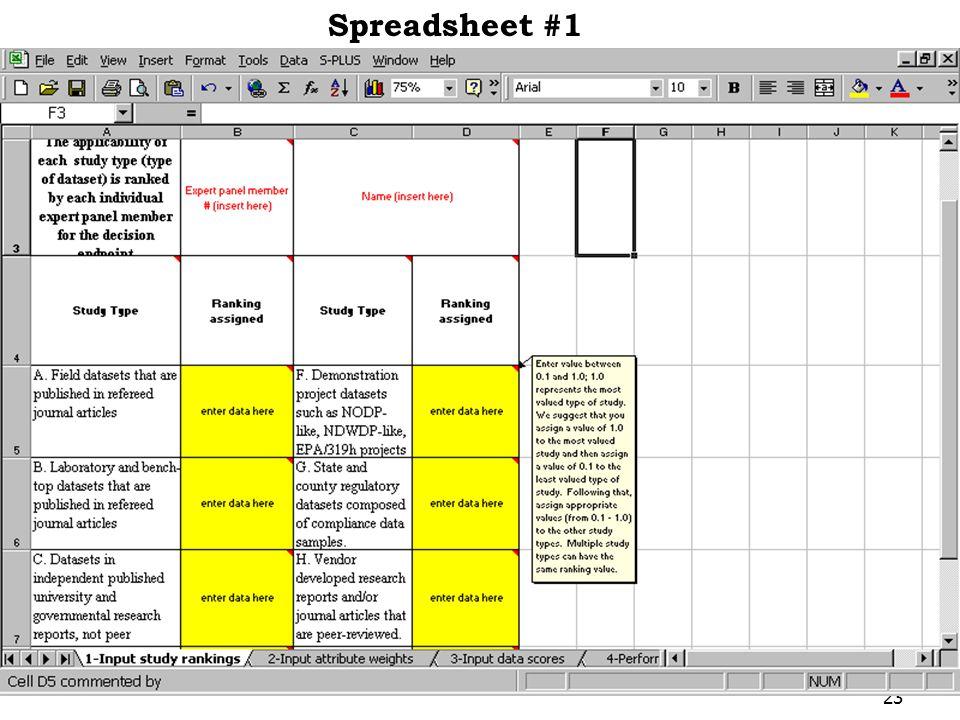 23 Spreadsheet #1