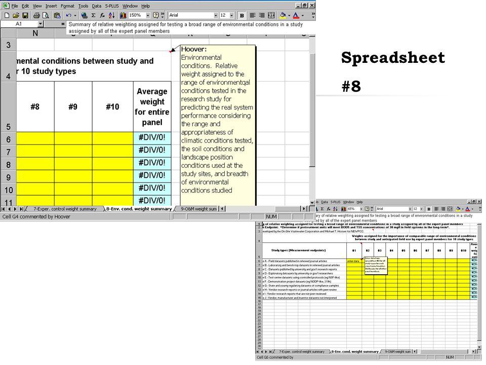 38 Spreadsheet #8