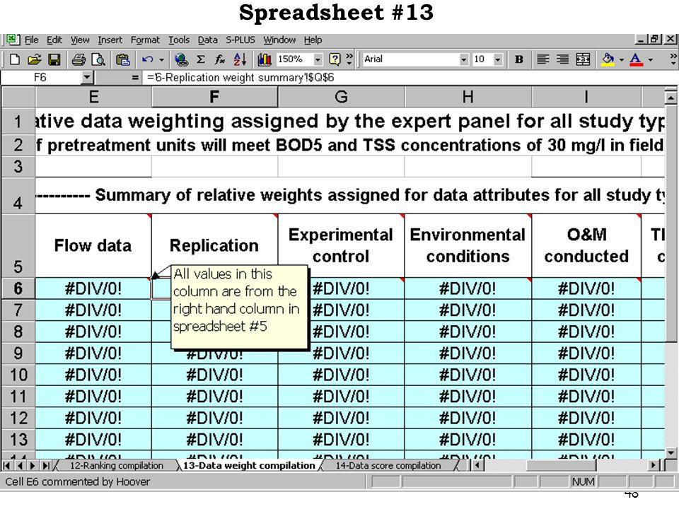 48 Spreadsheet #13