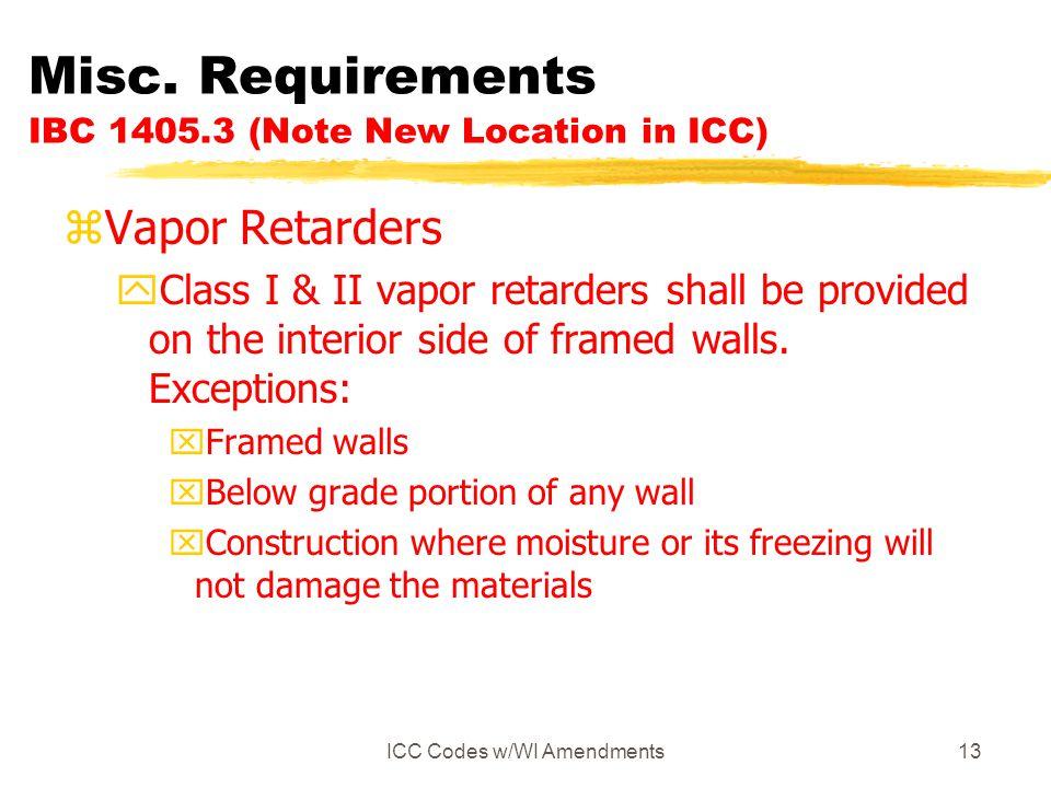 ICC Codes w/WI Amendments13 Misc.