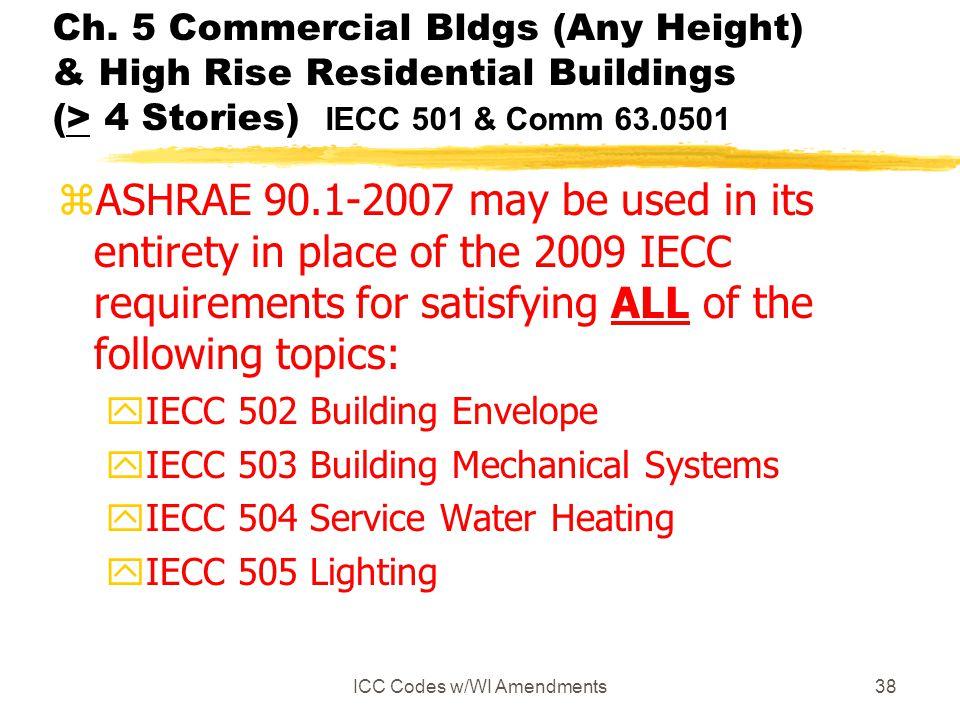 ICC Codes w/WI Amendments38 Ch.