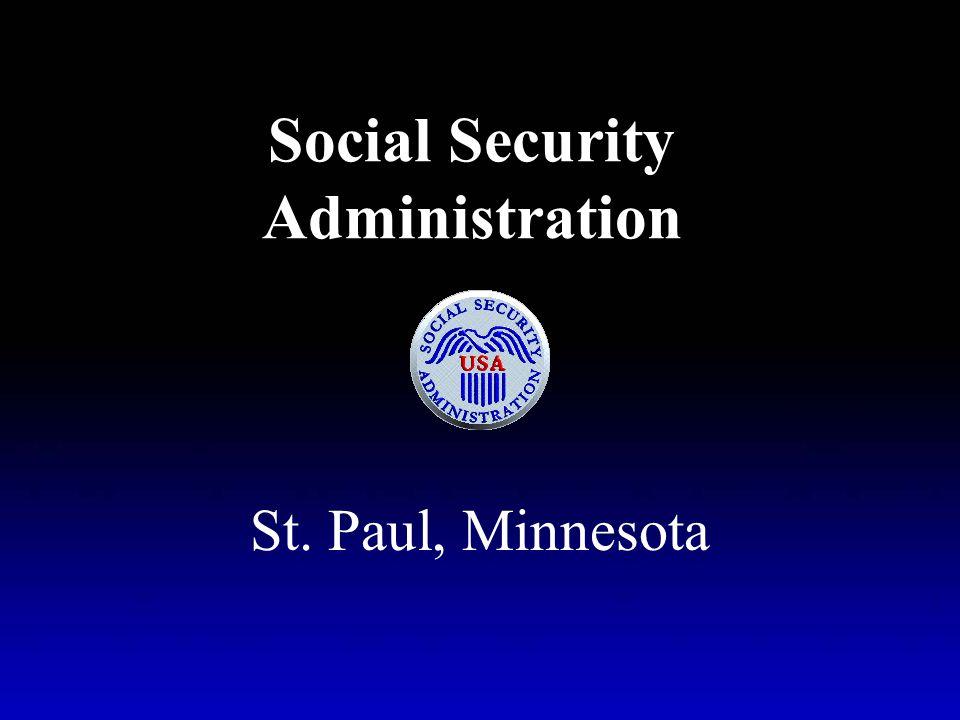Social Security Administration St. Paul, Minnesota