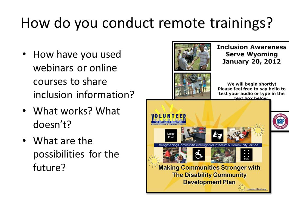 How do you conduct remote trainings.