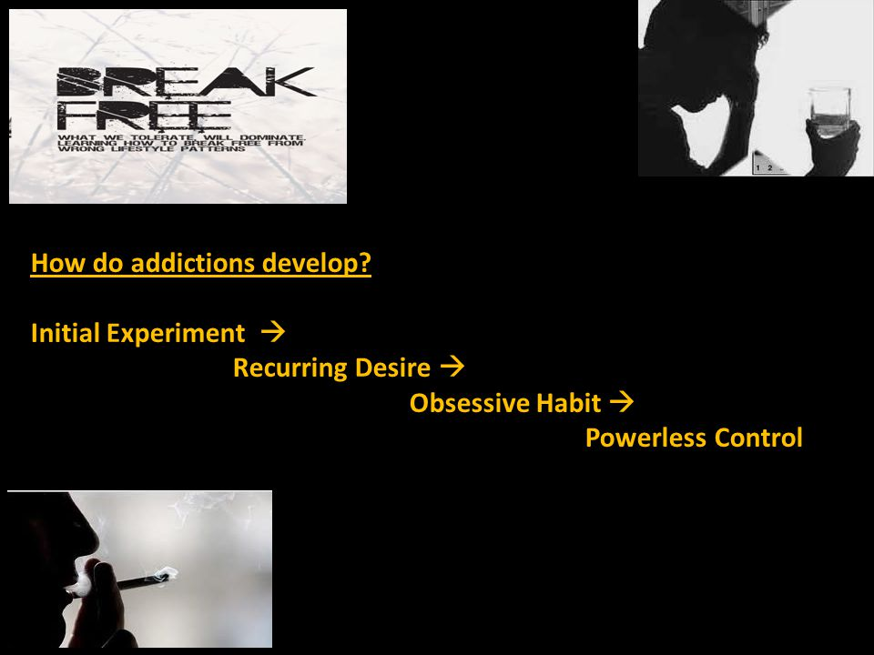 The world of an addict  Fear  Pain  Withdrawal  Denial  Pre-occupation