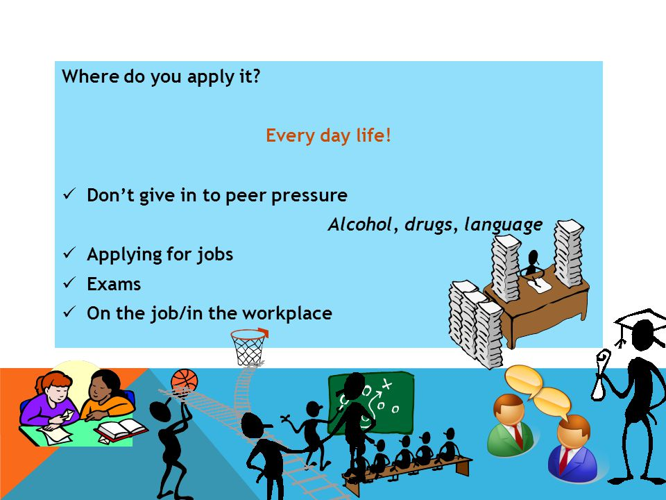 Where do you apply it. Every day life.