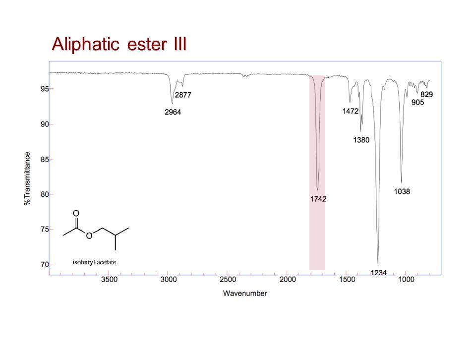 Aliphatic ester III