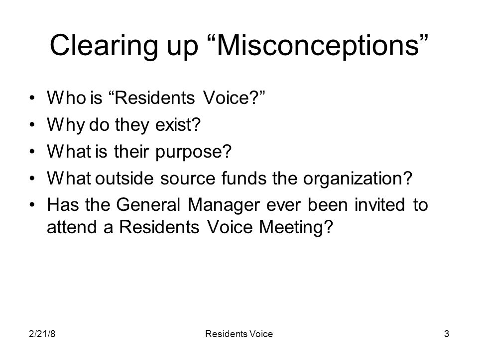 2/21/8Residents Voice4 How did Residents Voice Start.