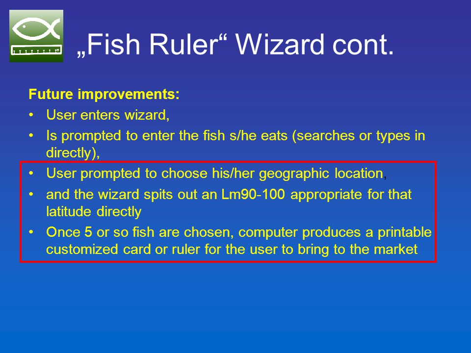 Other online items Spreadsheet for calculating and charting maturity indicators from length-frequency data and growth parameters Annotated bibliography of indicators literature (ongoing) WP 7 news (mostly about Fish Ruler)