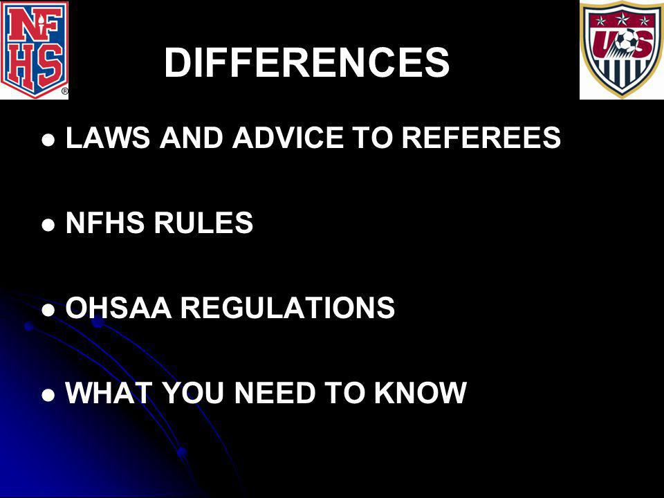 RULE/LAW 5: THE REFEREE 1.1. JURISDICTION BEGINS ON ARRIVAL AT FIELD 2.