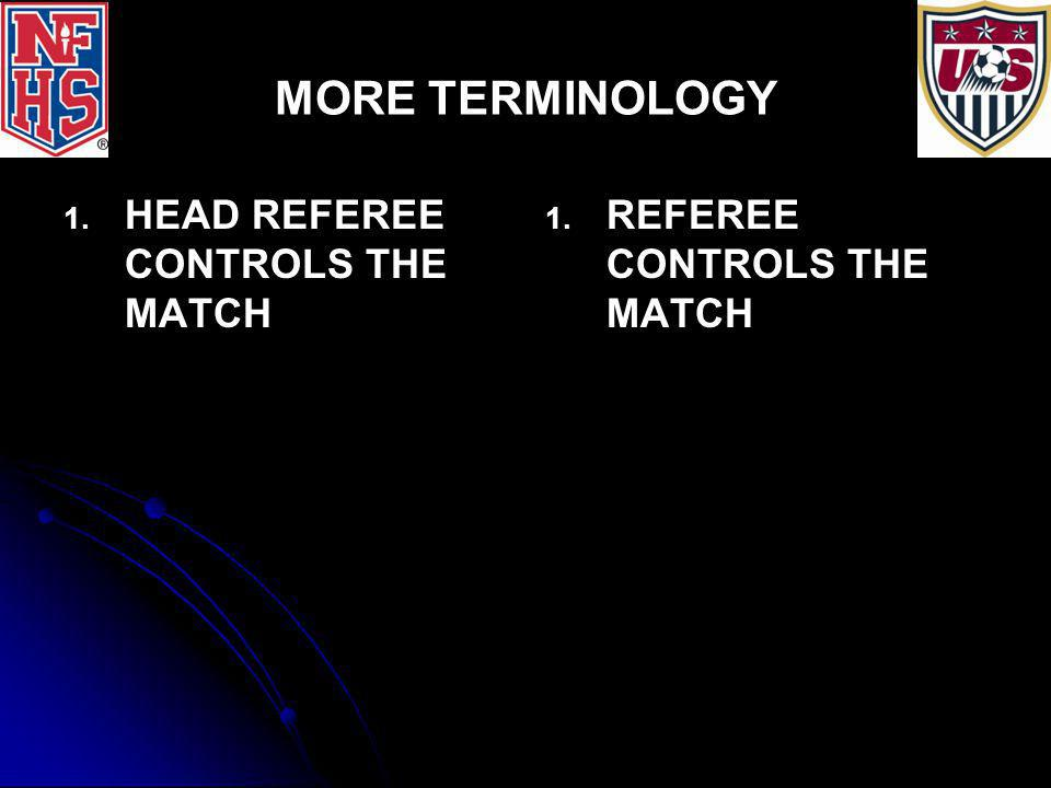 RULE/LAW 5: THE REFEREE COIN TOSS 1.WINNER MAY KICK OFF OR CHOOSE GOAL TO DEFEND 2.
