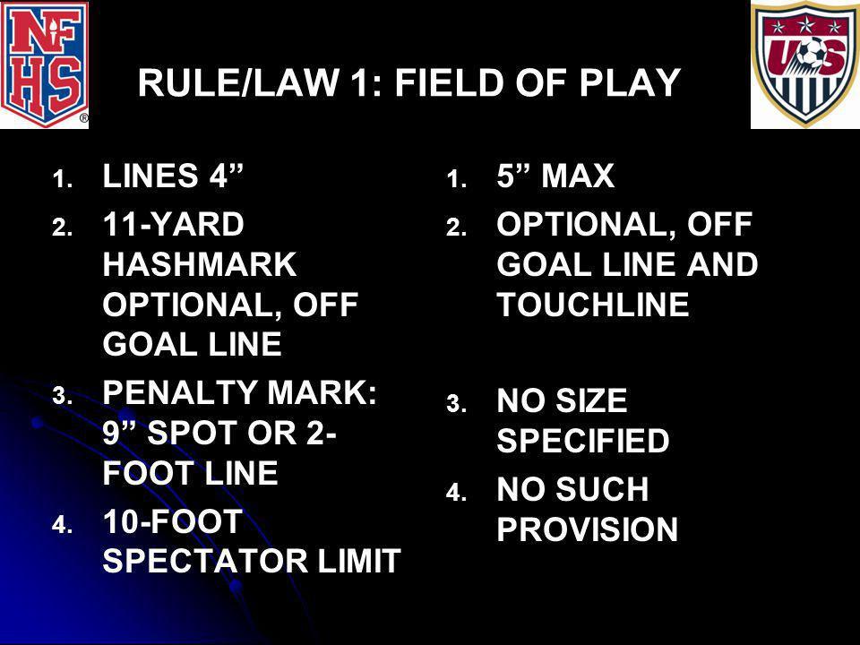 RULE/LAW 4: EQUIPMENT SOCKS: 1.1. SINGLE, DOMINANT COLOR 2.