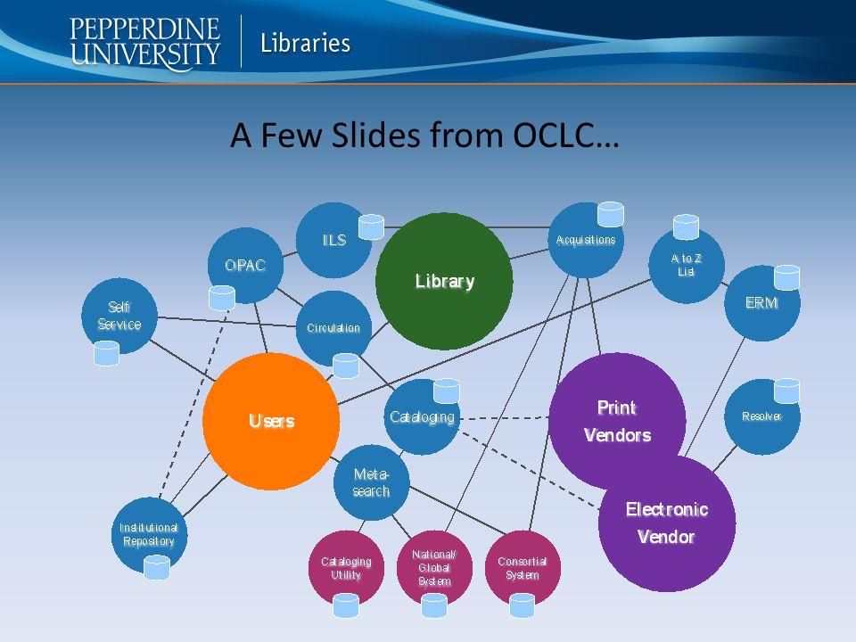 A Few Slides from OCLC…