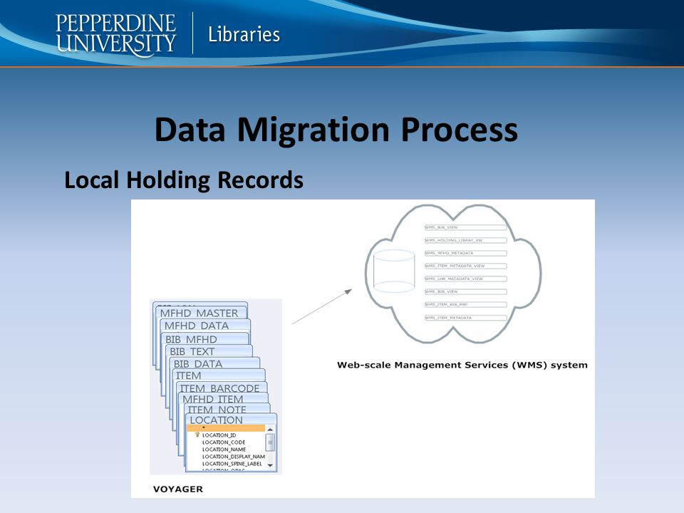 Data Migration Process Local Holding Records
