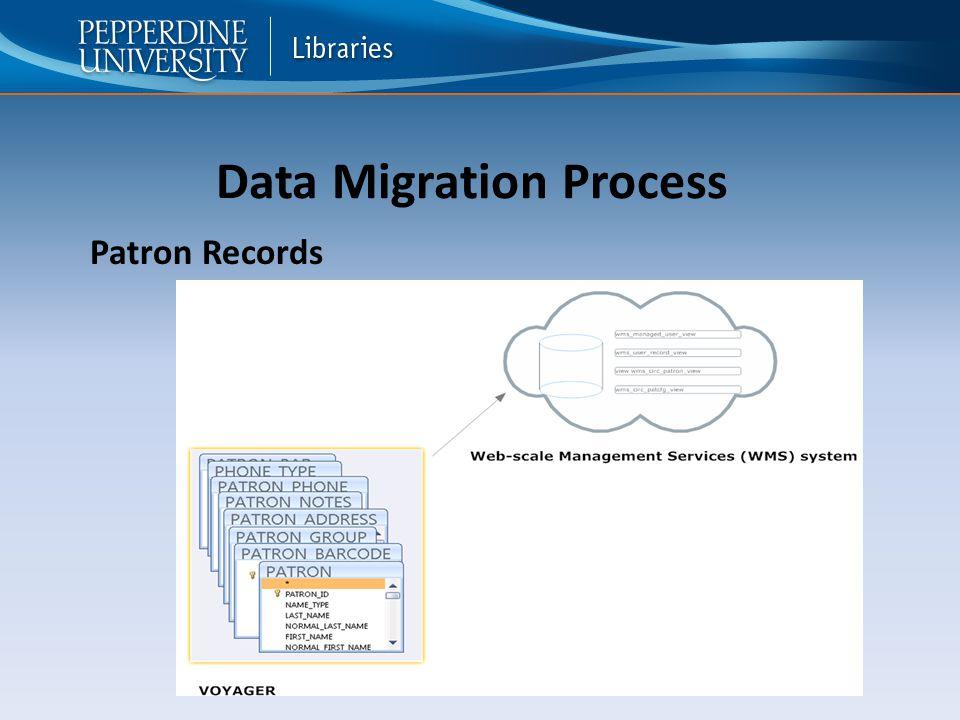 Data Migration Process Patron Records