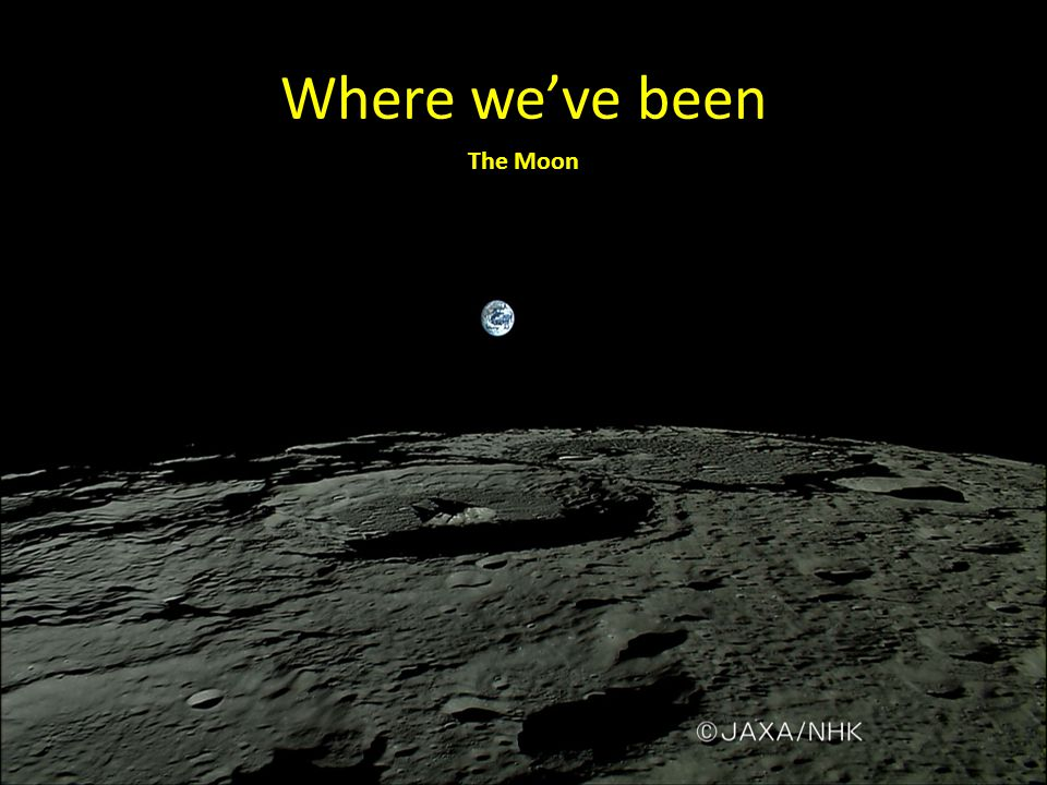 Where we've been The Moon