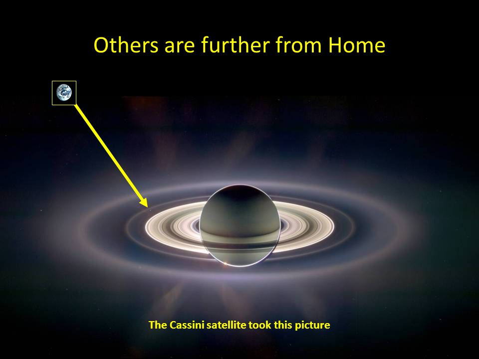 Others are further from Home The Cassini satellite took this picture