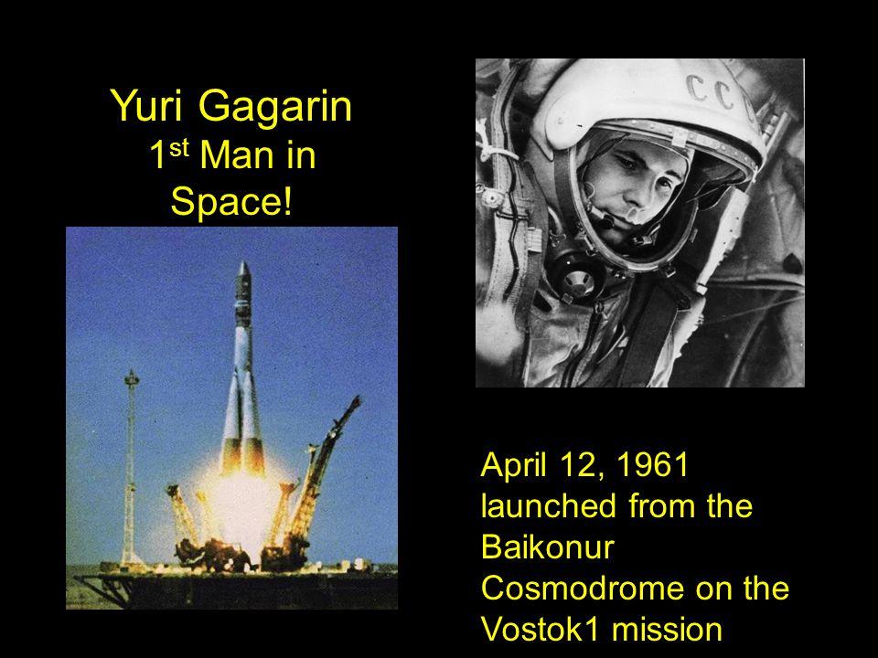 Yuri Gagarin 1 st Man in Space.