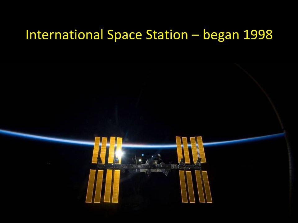 International Space Station – began 1998