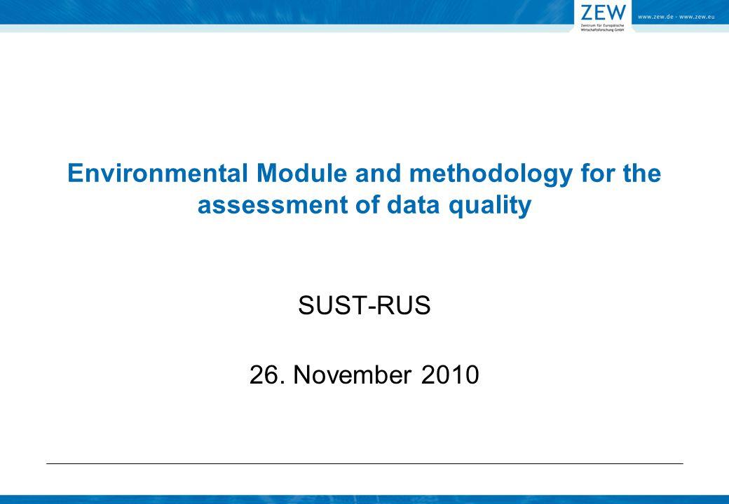 Environmental module: WP 5 5.