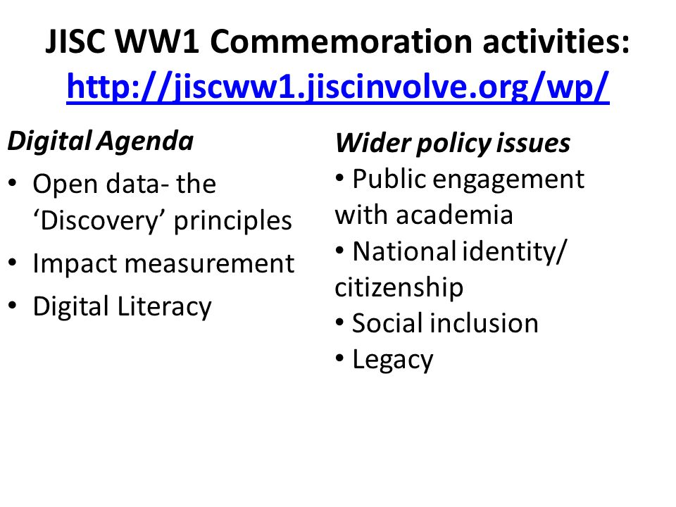WW1 commemoration planning document http://bit.ly/H6WwAm