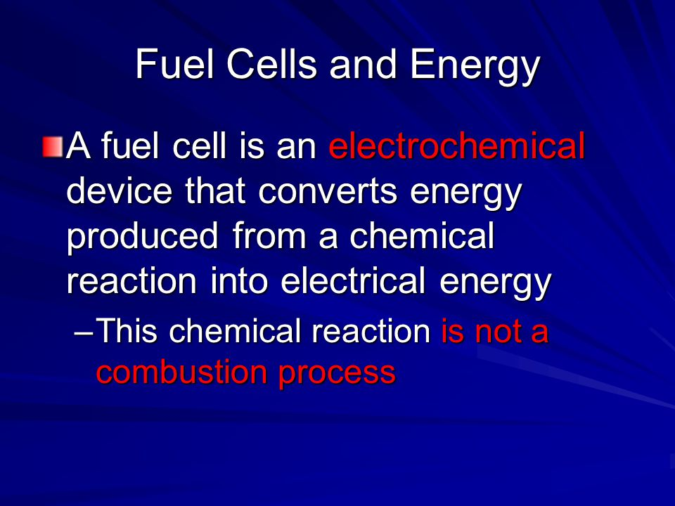 Intro to Fuel Cell Why Fuel Cell.