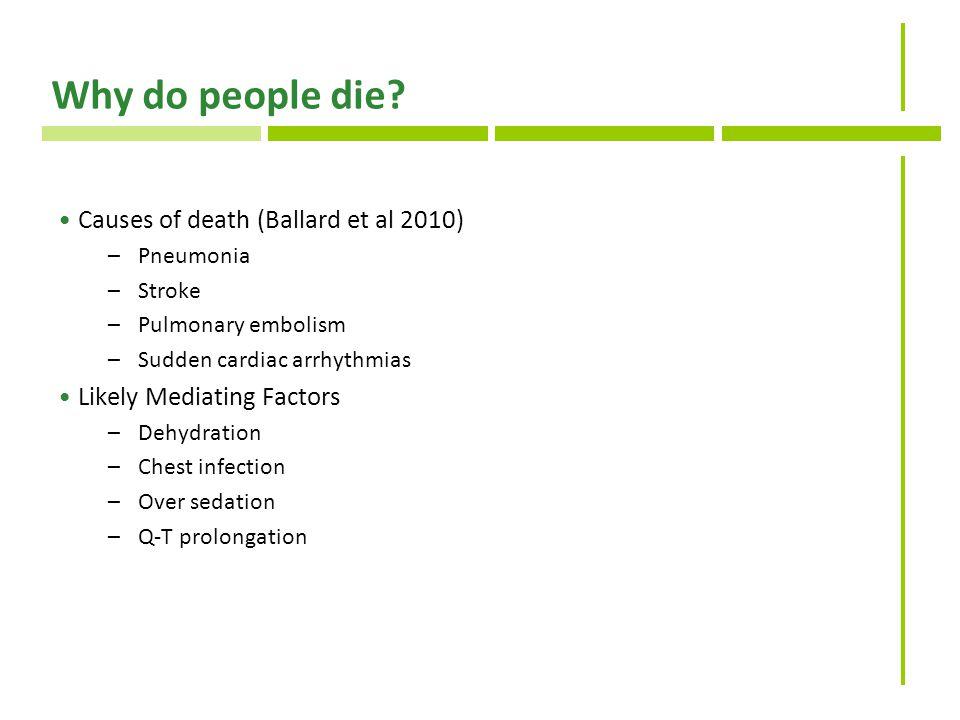 Why do people die.